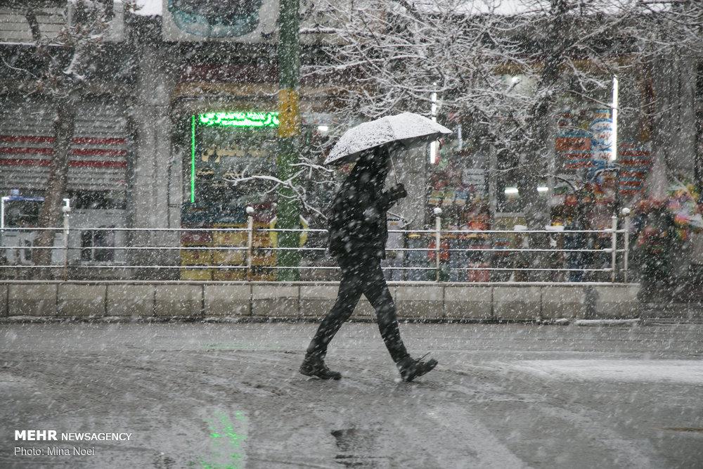 حال و هوای برفی تبریز