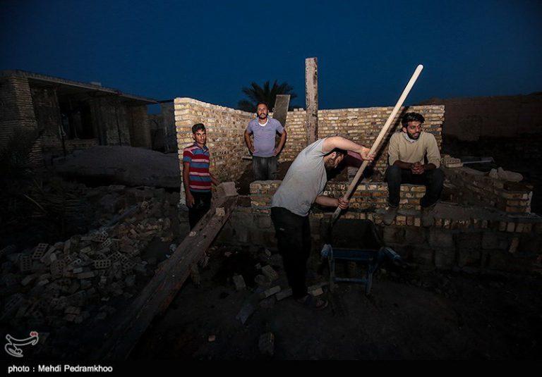 ساخت و ترمیم منازل سیل زده روستای سید ظاهر-اهواز