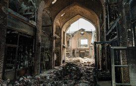 پاکسازی بازار تاریخی تبریز از خسارات آتش سوزی