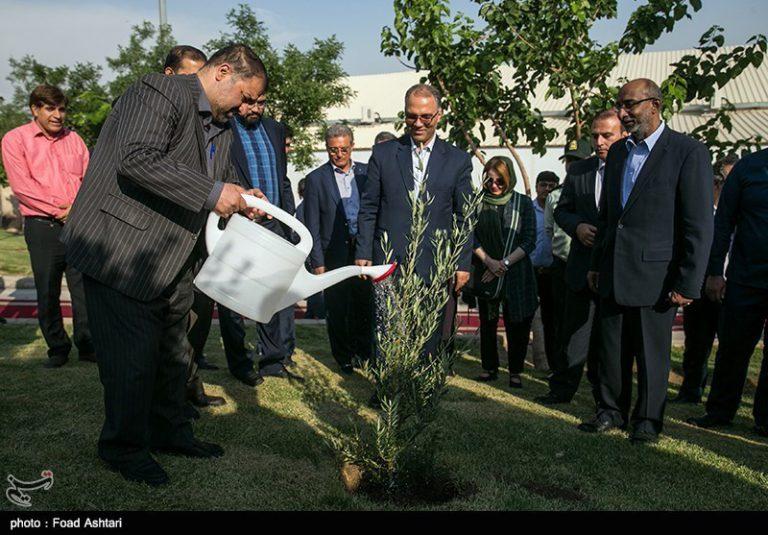 کاشت درخت بهمناسبت صدو پنجاهمین سالگرد تولد گاندی