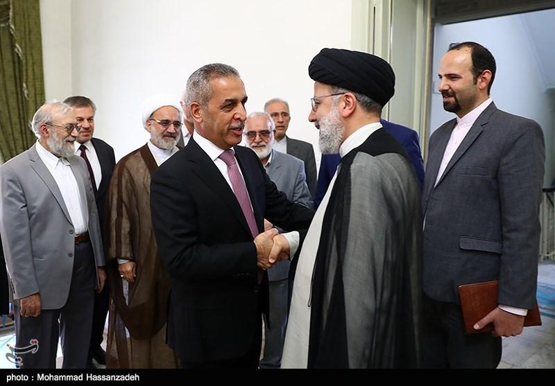دیدار رئیس شورای عالی قضایی عراق با حجت الاسلام رئیسی