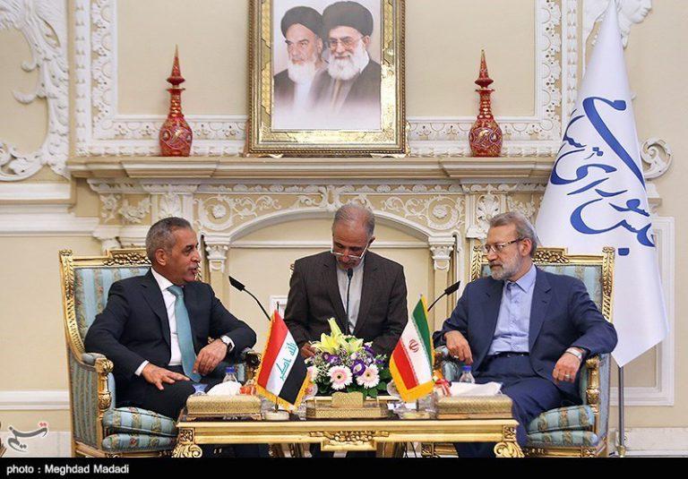 دیدار رئیس شورای عالی قضائی عراق با رئیس مجلس