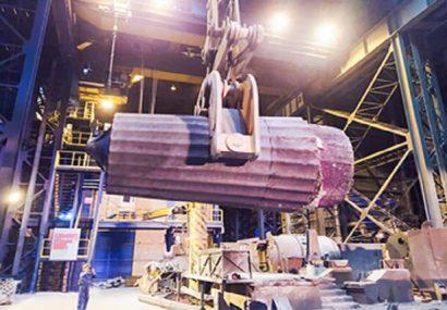 «اسفراین» اولین شمش فوق سنگین کشور را تولید کرد