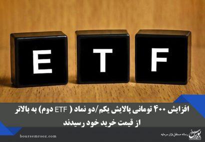 افزایش ۴۰۰ تومانی پالایش یکم/دو نماد (ETF دوم) به بالاتر از قیمت خرید خود رسیدند