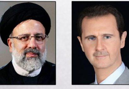 بشار اسد در پیام به رئیسی: خواهان تقویت همکاریهای دوجانبه هستیم